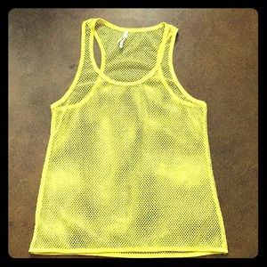 Yellow Mesh Tank Top